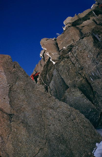 Climbing through the Rock Ridge.