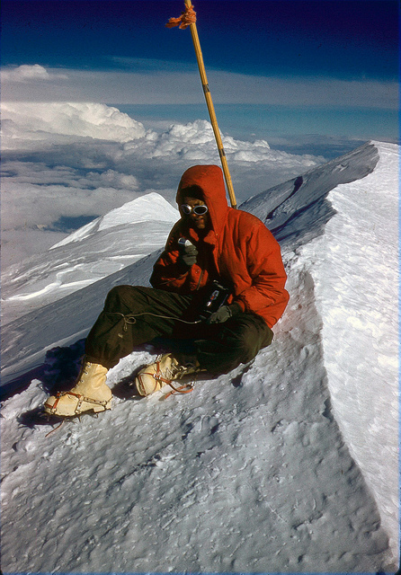 At the summit we took a few pictures, spoke some garbled nonsense into the tape recorder we had brought with us, and rested ourselves for the journey down.