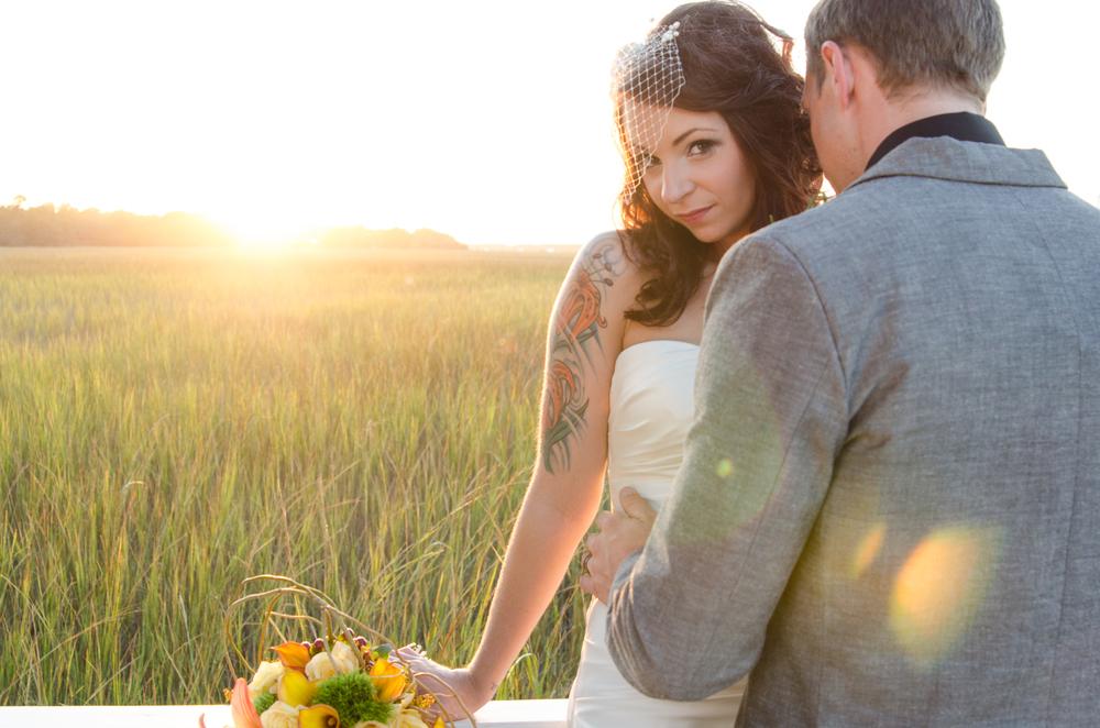 charleston wedding photography photographer venue creek club at ion mount pleasant bride and groom.jpg