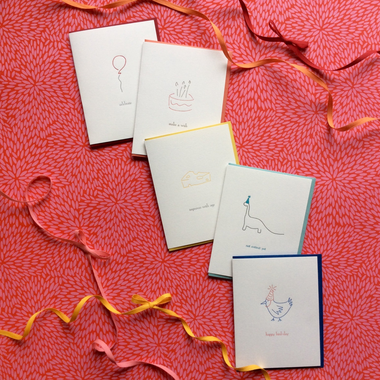 Bundle Of Five Birthday Cards Albertine Press