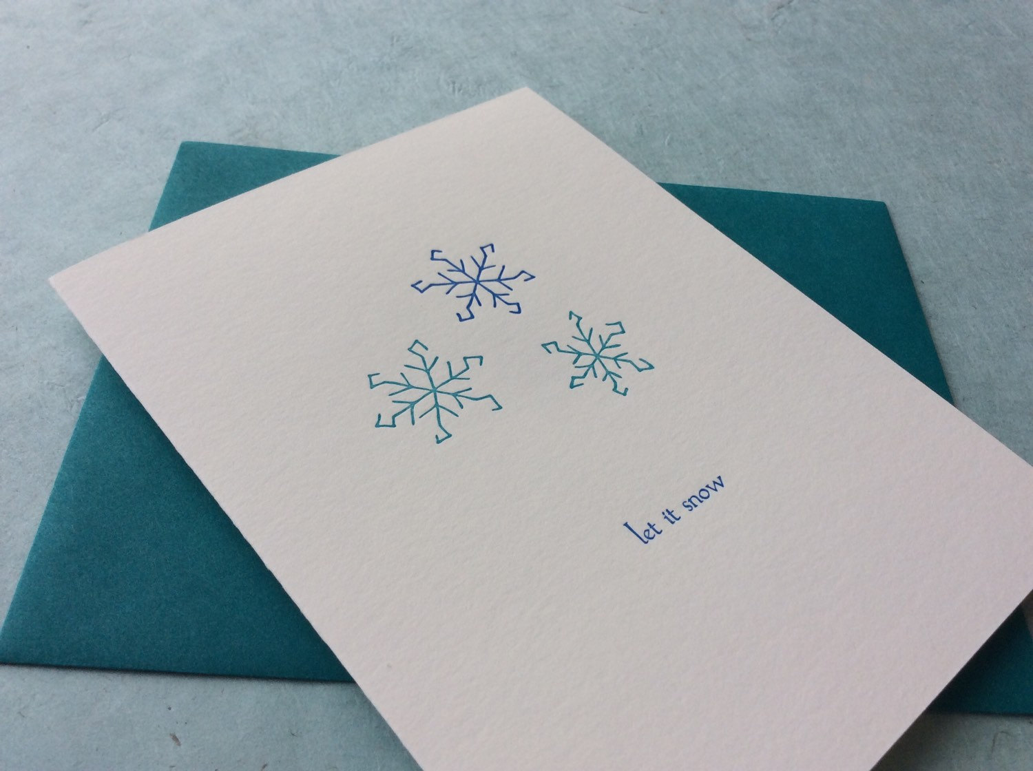let it snow box of six letterpress holiday cards - Letterpress Holiday Cards