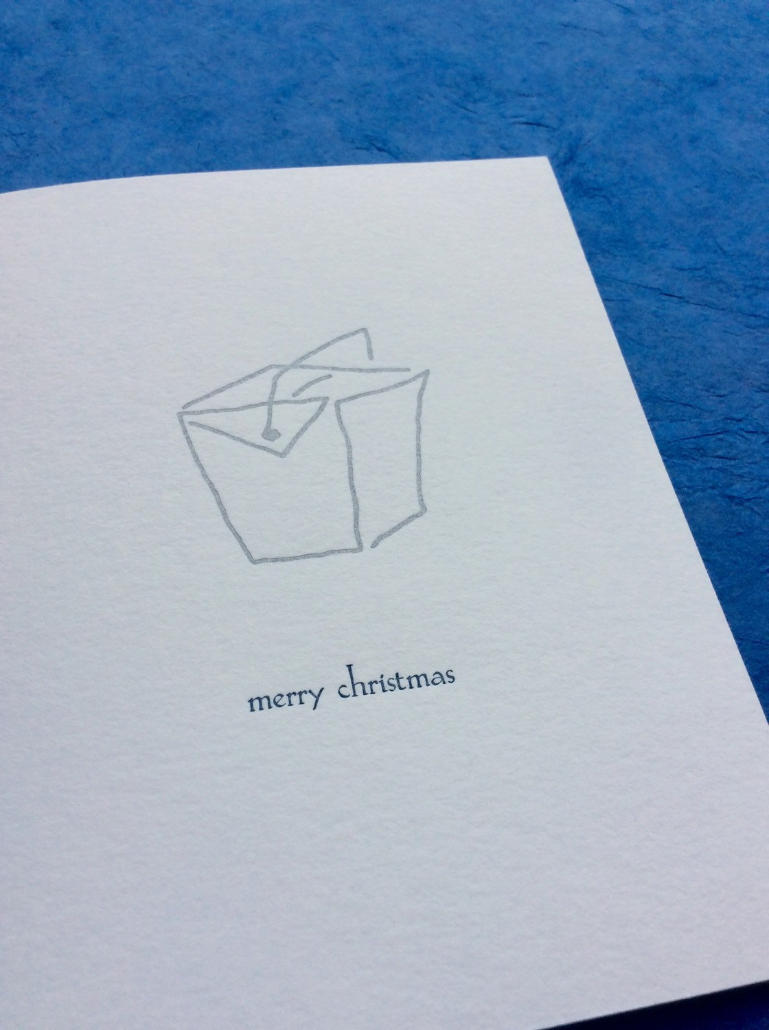 Merry Christmas - box of six letterpress holiday cards — Albertine Press