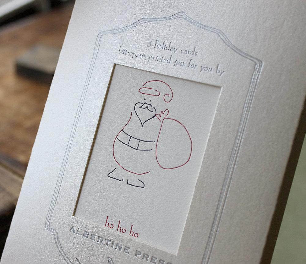 ho ho ho box of six letterpress holiday cards - Letterpress Holiday Cards