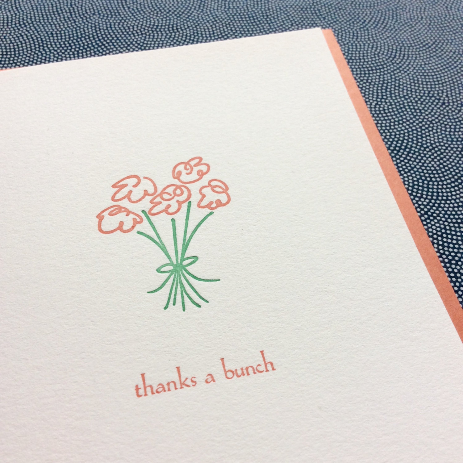 Bundle Of Five Thank You Cards Albertine Press