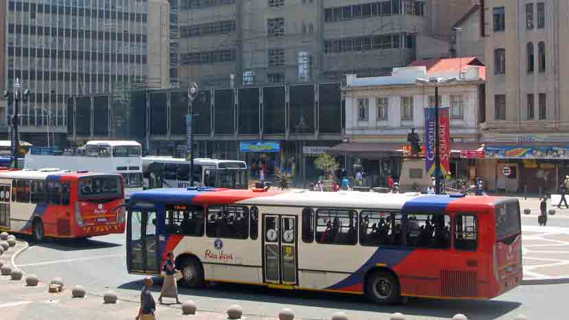 Rea Vaya (rapid bus transport) stop in Johannesburg. (Source:  City of Joburg )