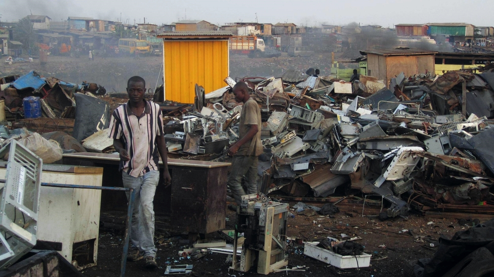 Perhaps the most evident case of global waste is that of  Agbogbloshie  in Accra, Ghana. Source: Wikimedia Commons