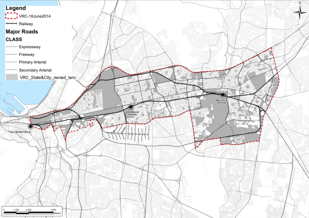 Land/ Asset Map of Voortrekker Road. Credit: Department of Spatial Planning and Urban Design, City of Cape Town