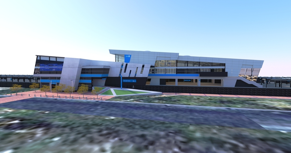 DesignSpaceAfrica architecture render of a station upgrade