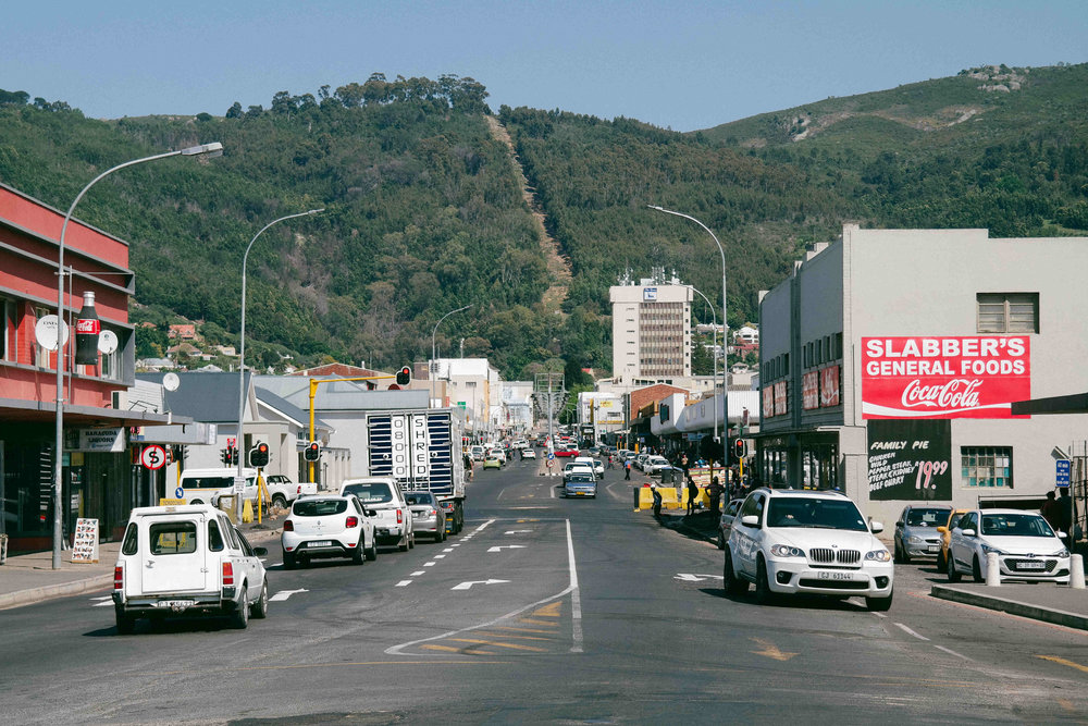 Paarl CBD seen from lower Lady Grey Street. Photo: Walter Fieuw