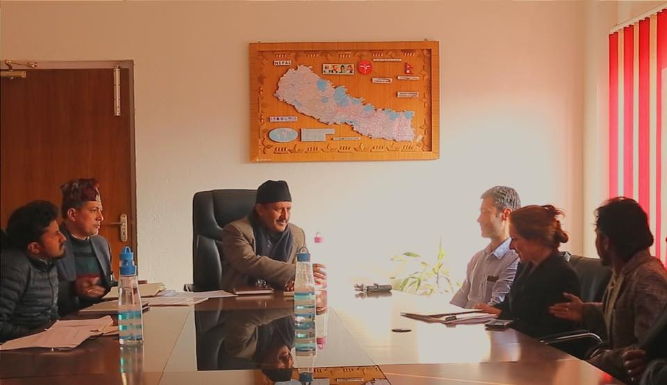 We presented Earthbag technology to Nepal's Minister of Education