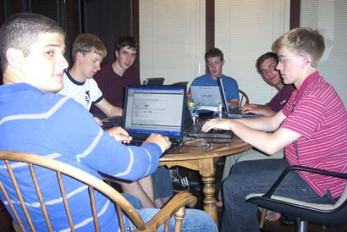 Zuckerbeg circa 2004 coding up the storm that would become 'The Facebook'.