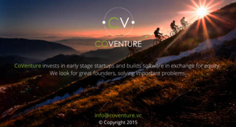 La page d'accueil de CoVenture : www.coventure.vc