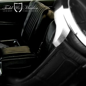 Black leather strap inspired by the interior of Dean's custom 1962 Ghia L6.4