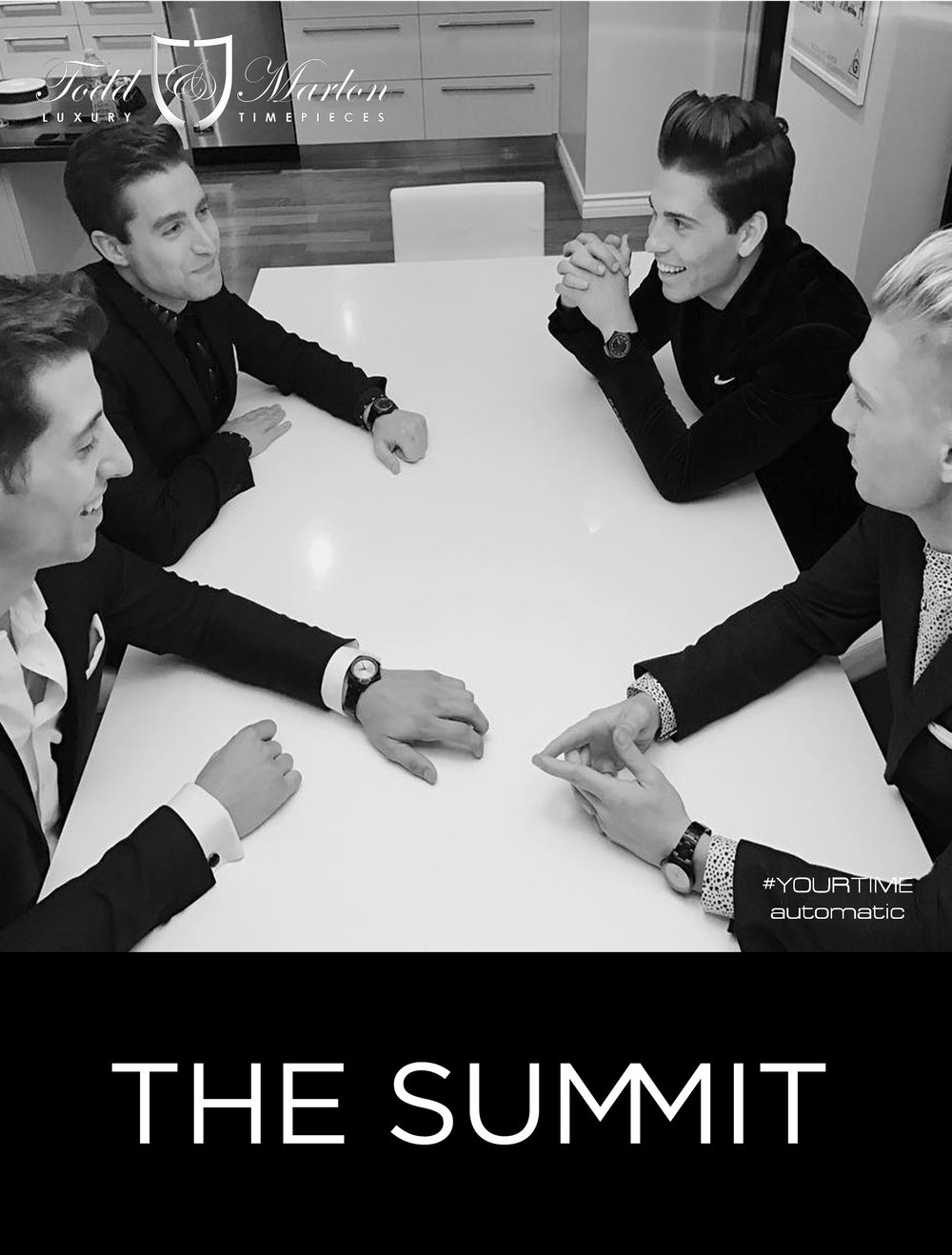 The Summit is a music group of four singers, merging today's pop sound with the Rat Pack's vintage style. Their classic charm, modern suits, and unique sound sets this group apart from any other. For more information visit www.wearethesummit.com or follow them on all social media platforms at @WeAreTheSummit.