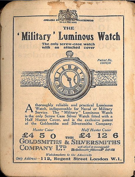 https://commons.wikimedia.org/wiki/File:Frontispiece,_watch_advertisement_(Signalling,_1918).jpg
