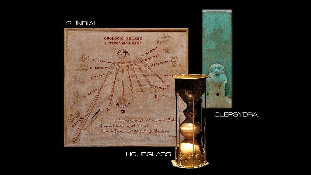 Sundial Clepsydra Hourglass