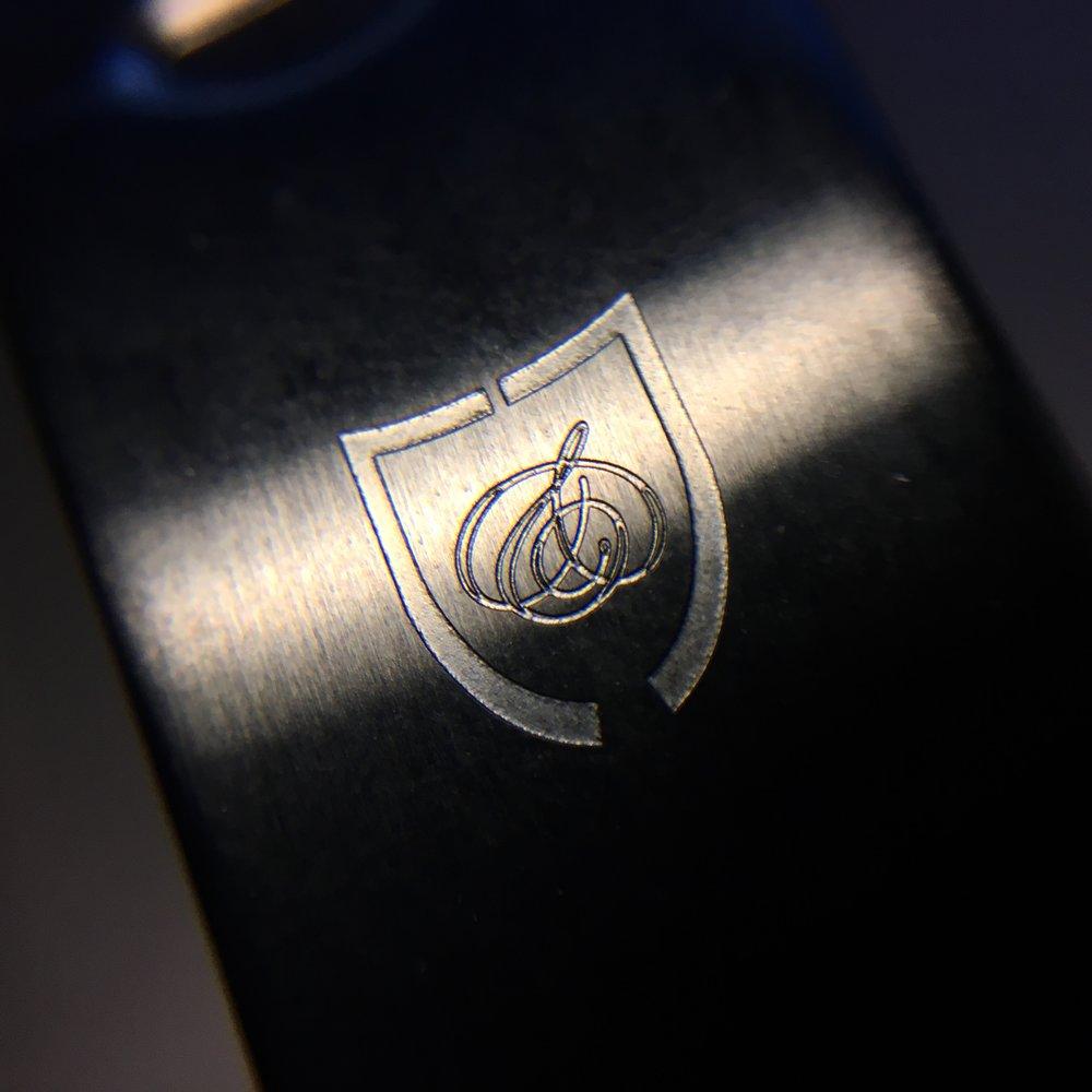 watch logo on bracelet buckle