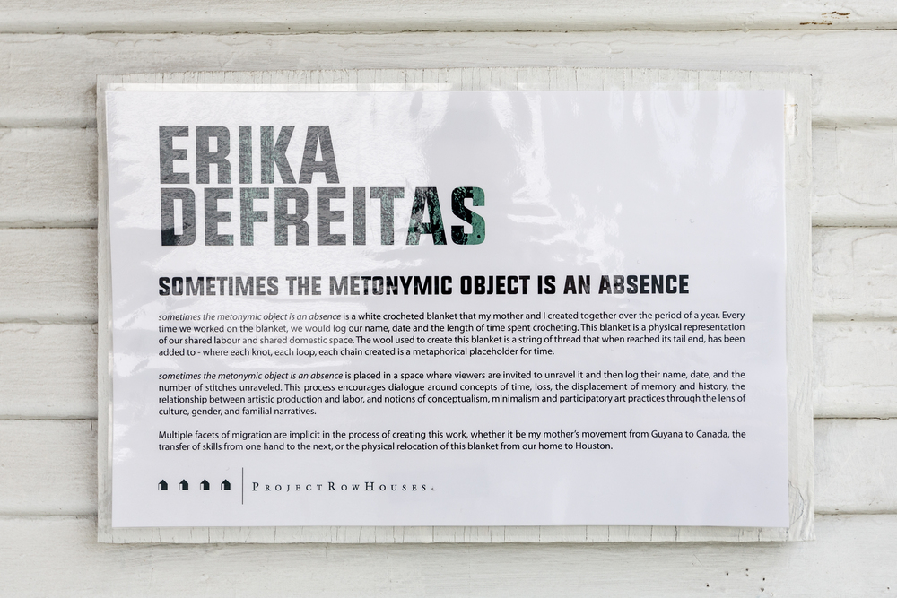 Erika DeFreitas, sometimes the metonymic object is an absence
