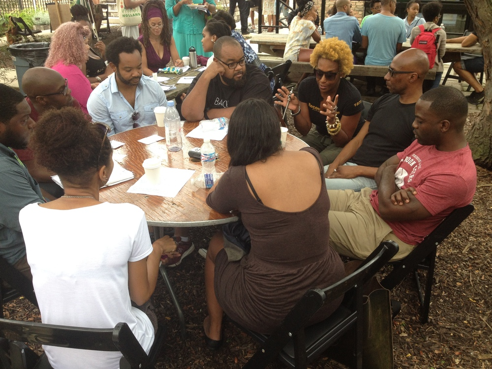 Black Lunch Table , Dorchester Projects, Chicago, 2014. Courtesy of the artists