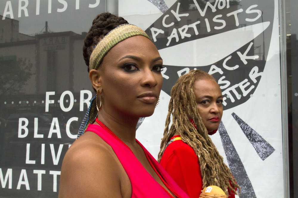 Black Women Artists for Black Lives Matter occupy the New Museum for their first performative action, Photo by Madeleine Hunt Ehrlich
