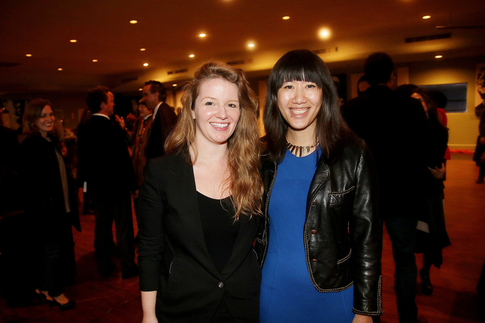 Carrie Schneider (left) and Carol Zou (right) at the Launch event for the CotA-PRH Fellowship. Photo by Pin Lim