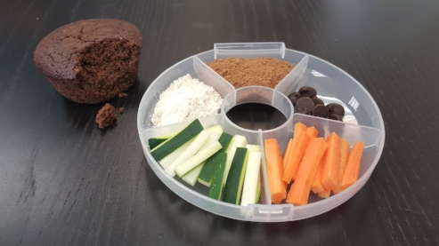 There are this many veggies in ONE Garden Lites Chocolate Muffin!