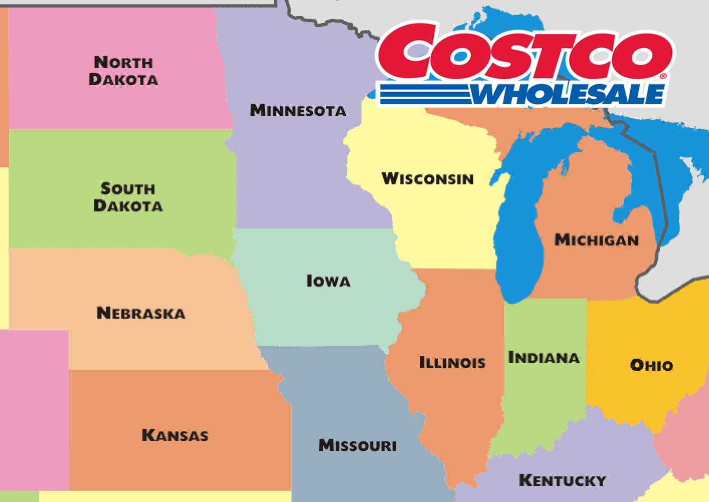 Costco Locations Minnesota Map.Midwest Costco Sampling 1 2 1 3 1 7 1 8 Garden Lites