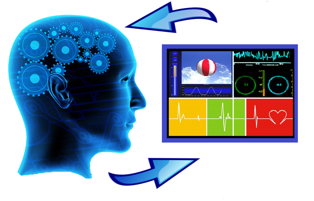 Image displaying how biofeedback works.