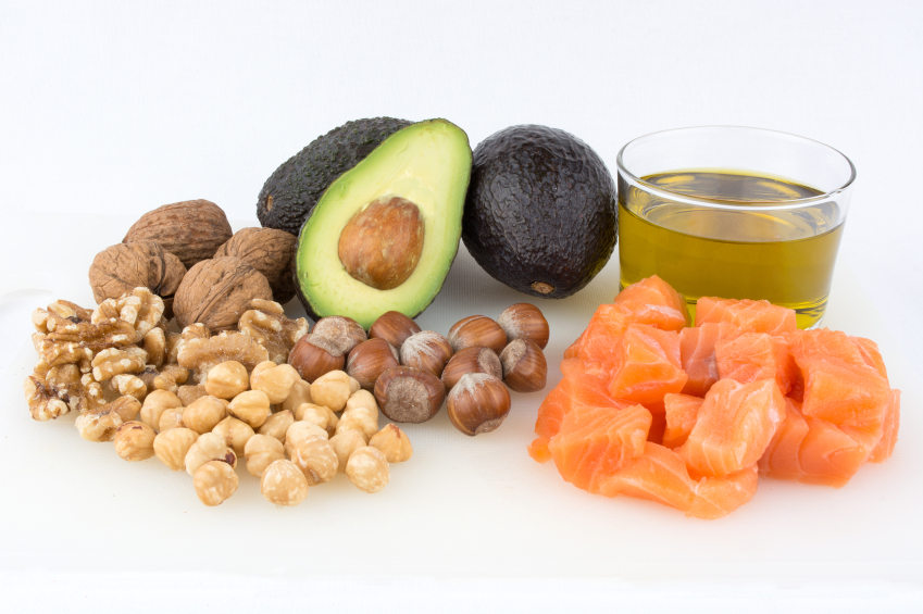 Foods that contain healthy fats, including avocados, nuts, salmon and olive oil. Healthy fats are essential for optimal brain health.
