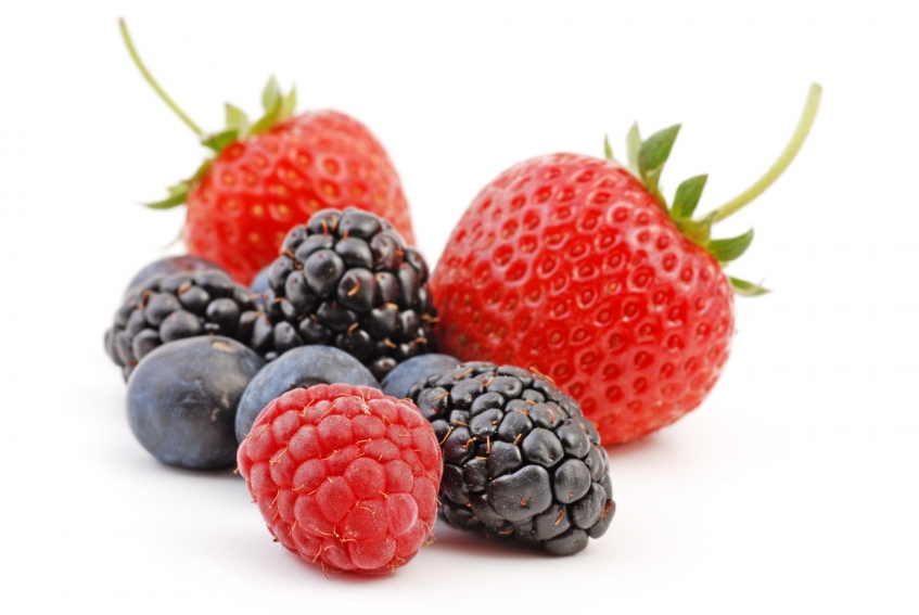 Berries, including raspberries, blackberries and strawberries. The antioxidants in berries can lower cortisol levels.