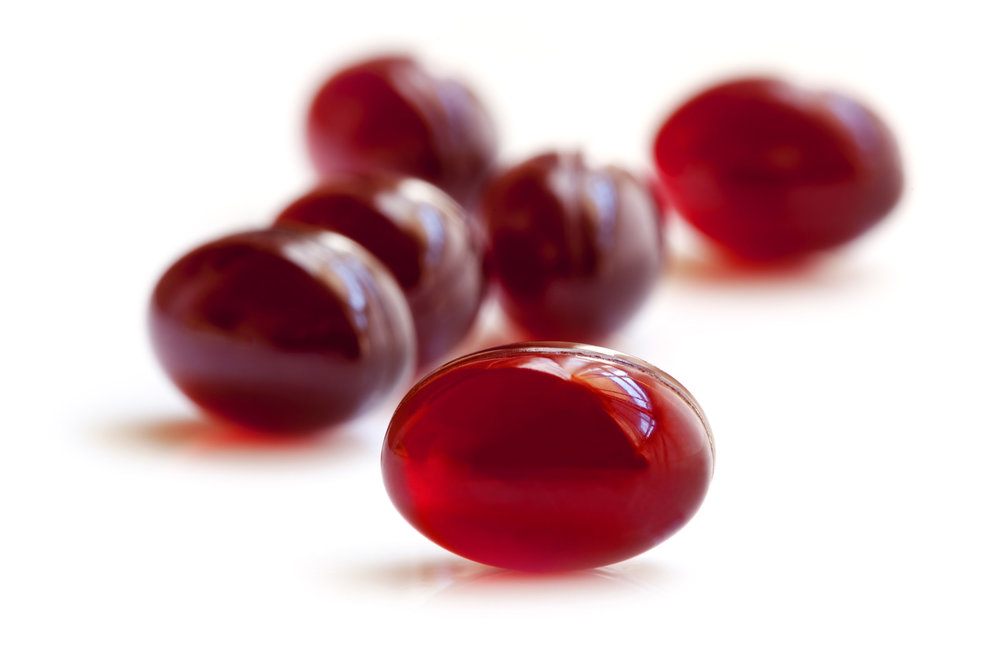 Krill oil softgels. Krill oil contains omega-3 fatty acids, which are important nutrients that can help you overcome addiction and withdrawal.