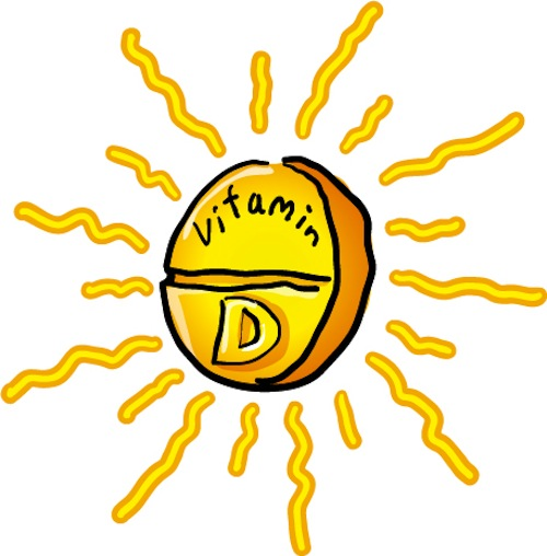 A cartoon sun, and it says Vitamin D in the middle of it. Vitamin D supplements can help you overcome addiction and withdrawal, especially if your levels are low.