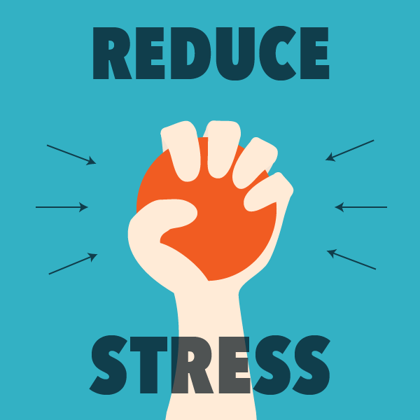 Person holding stress ball. Reducing stress can help repair the blood-brain barrier.