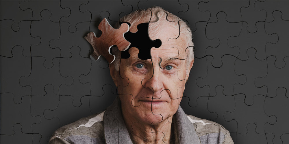 An elderly man with dementia.