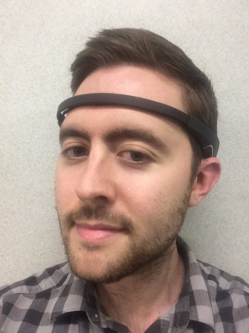 Jordan Fallis wearing the Muse headband.