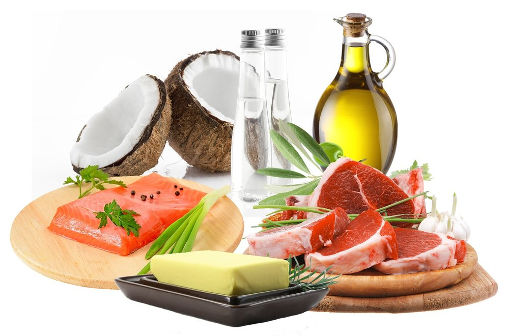 Foods incorporated in a ketogenic diet. A ketogenic diet and ketones can help repair myelin.