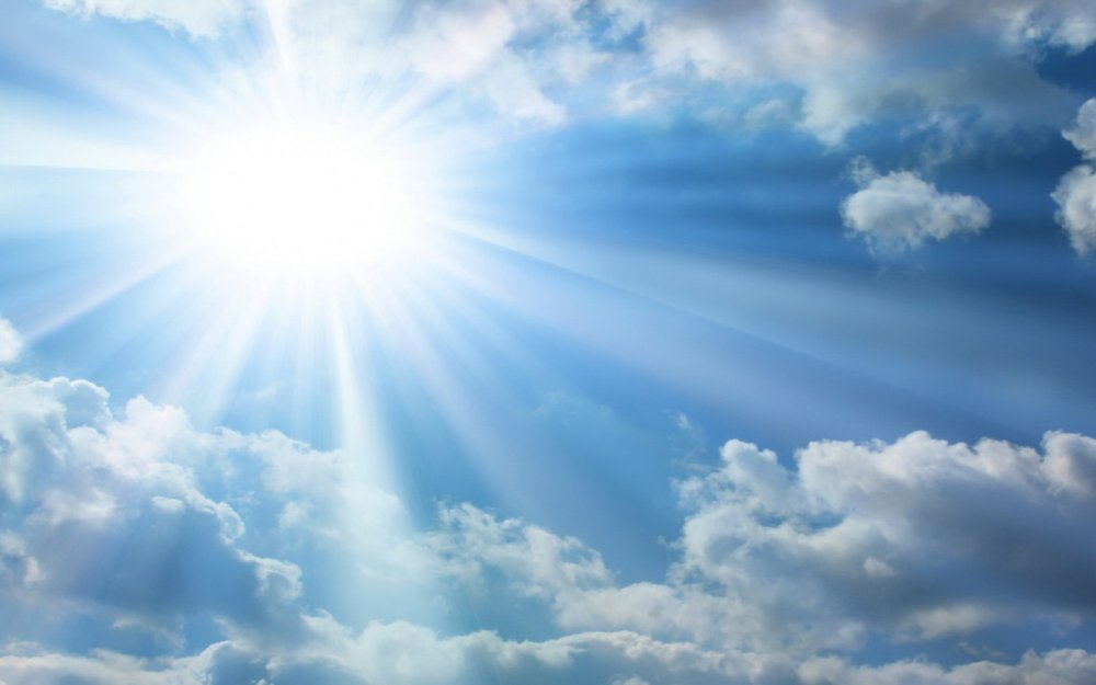 Sun shining through the clouds. Vitamin D from the sun can help repair myelin.