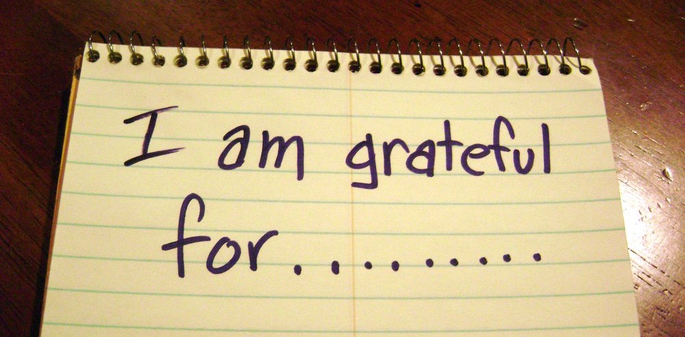 "A piece of paper that says ""I am grateful for…"". Gratitude can help you overcome trauma and PTSD without medication."