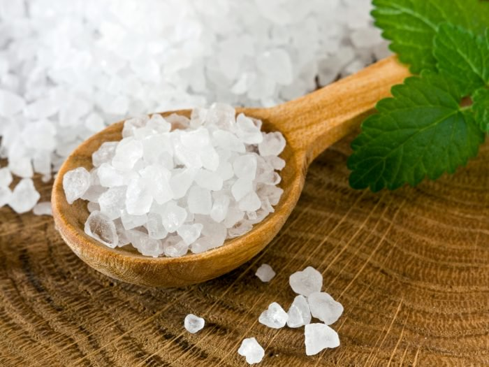 A spoonful of sea salt. Salt can increase dopamine levels in the brain.