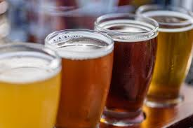 Four glasses of beer. Beer contains uridine, which has been shown to reduce depression.