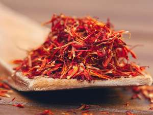 Saffron plant. Saffron has been shown to reduce depression.