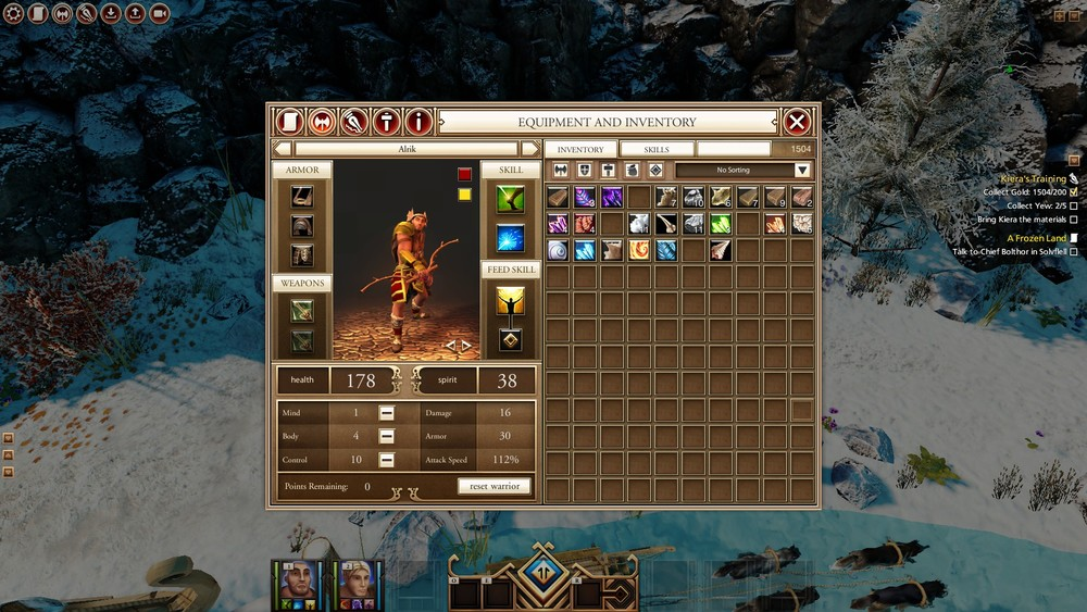 Inventory and character screen.