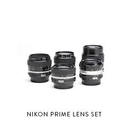 NIKON PRIME LENS SET   (All w/ Canon EF Mount adapters, 77mm front) 24mm f/2 28mm f/2.8 35mm f/1.4 50mm f/1.8 85mm f/2 135mm f/2.8