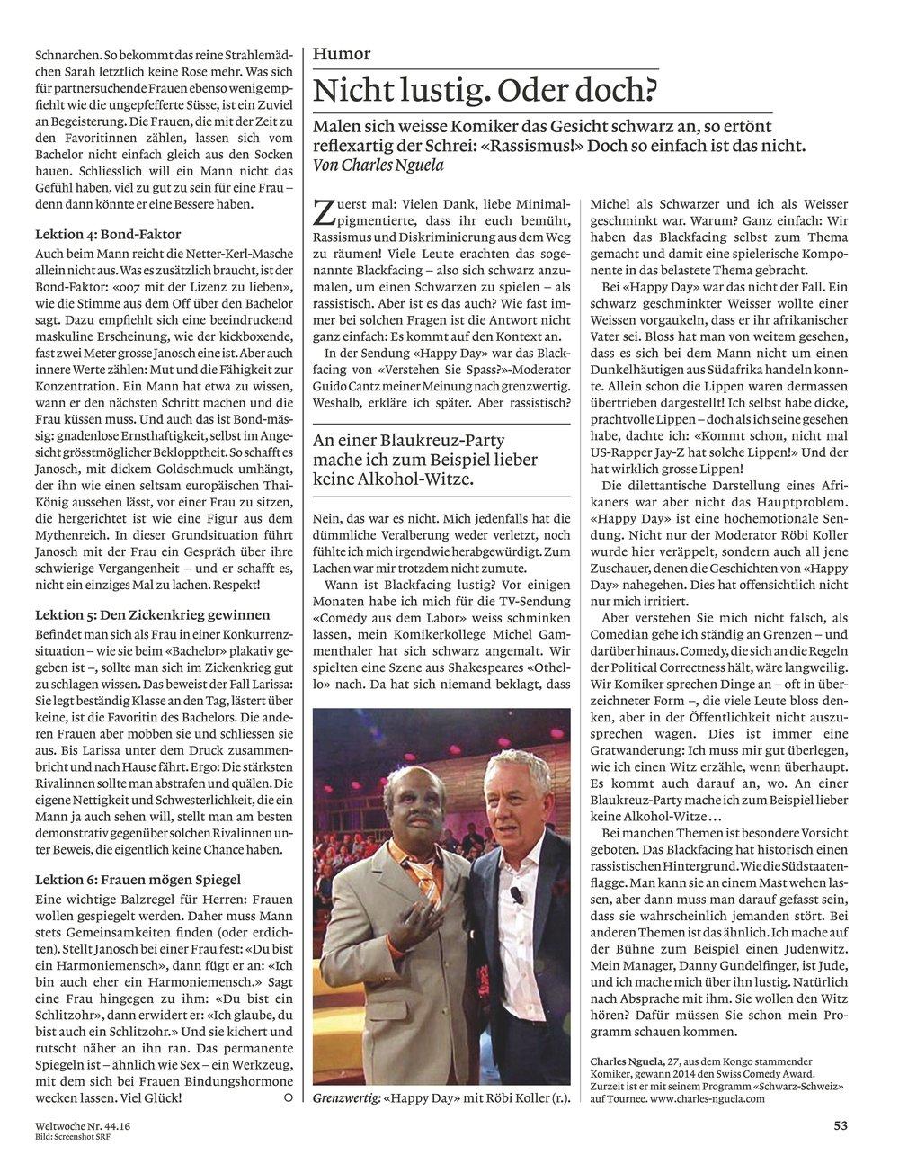 Ein Artikel von Charles Nguela