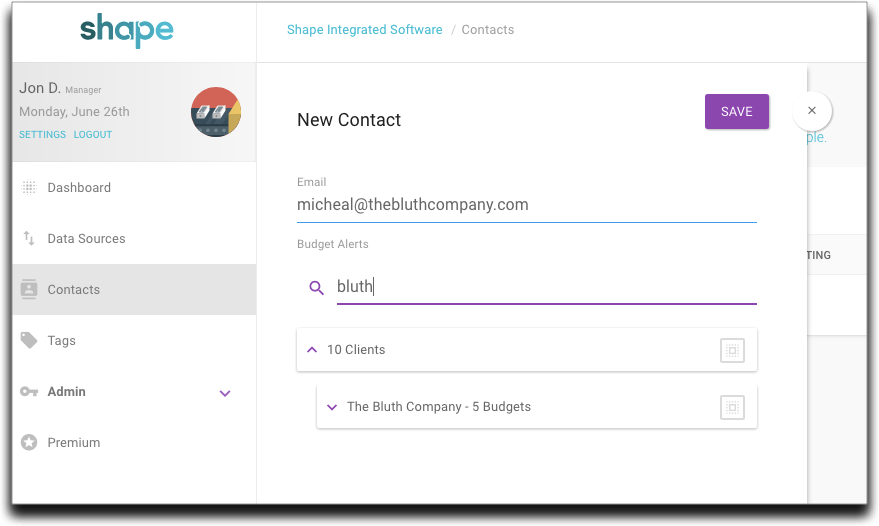 Manage Contacts more efficiently with search on the Contact Edit page.