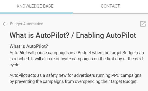 shape ppc budget autopilot knowledge base