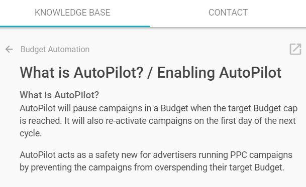 shape ppc budget autopilot knowledge base
