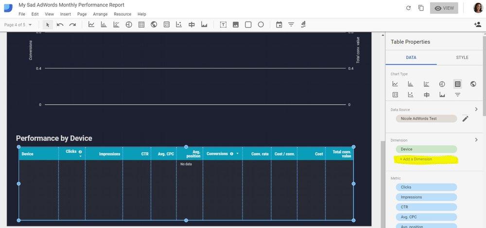 data studio add a dimension to table.JPG