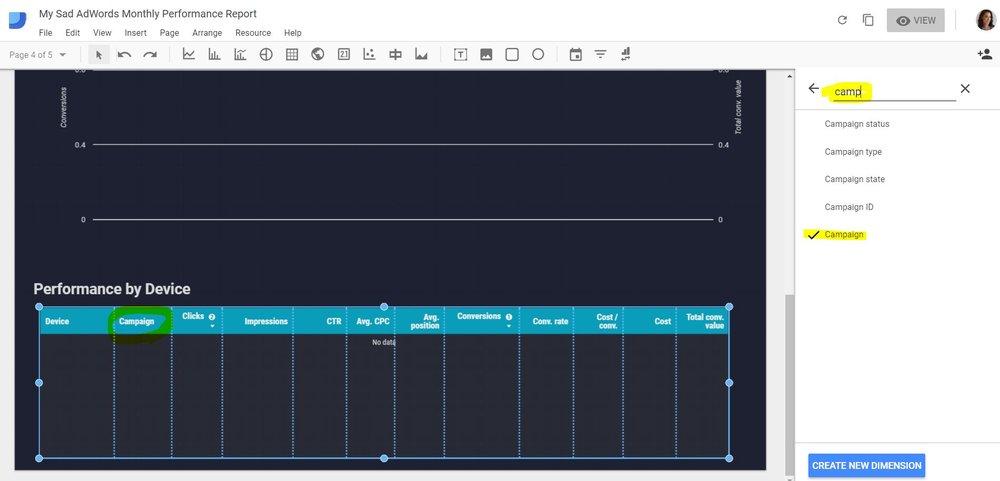 data studio added second dimension.JPG