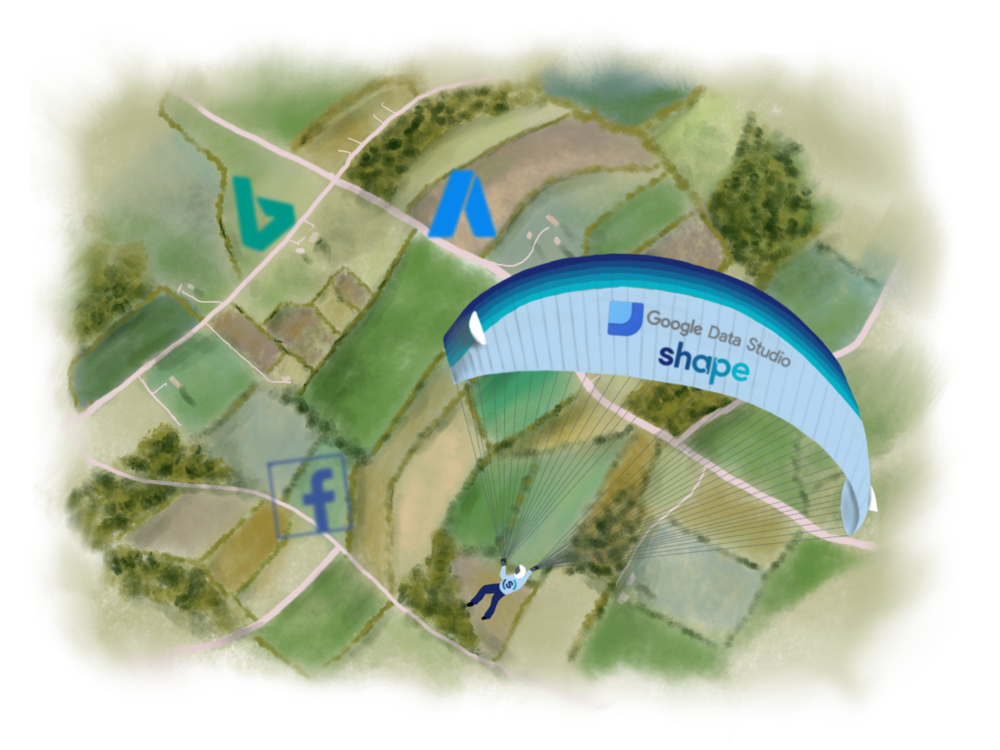 Google-data-studio-shape-scaling-ppc-skydiving-agency